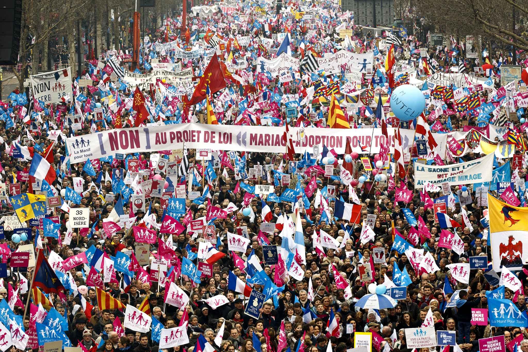 Manifestation pour le mariage gay à Paris
