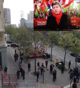 Mélenchon met en scène a manifestation pour les journalistes