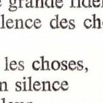 le silence des choses, Serge Núñez Tolin