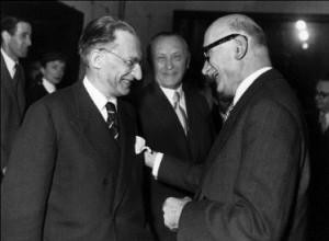 Alcide De Gasperi, Konrad Adenauer et Robert Schuman. Trois Démocrates-chrétiens.