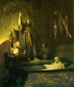Résurrection de Lazare par Rembrandt