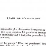 Le drame de l'expression, Francis Ponge