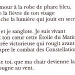 J'aime et je sanglote, René Char