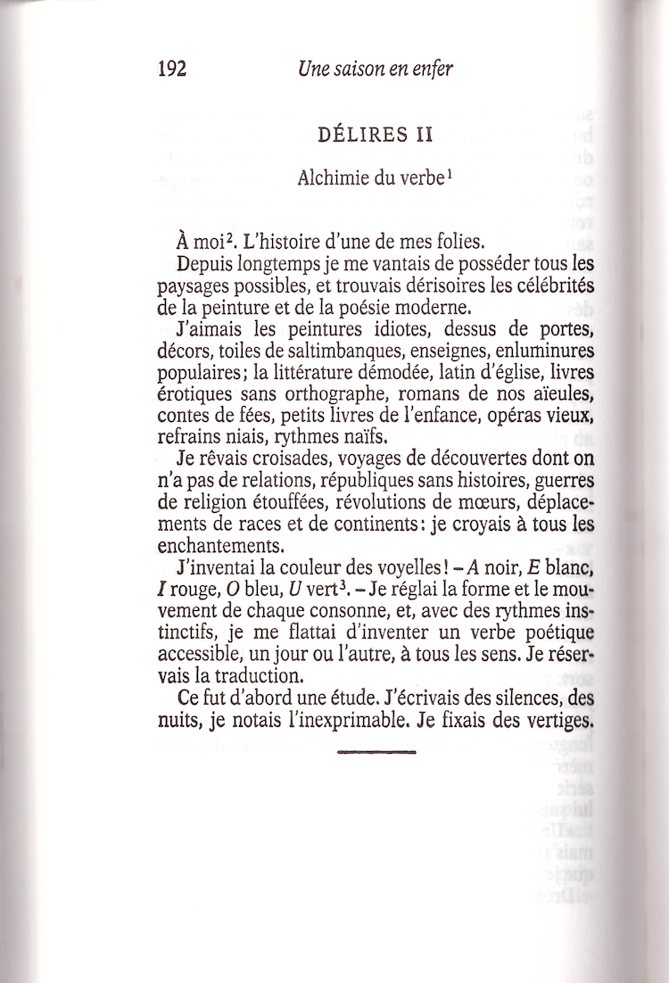 Rimbaud, verbe