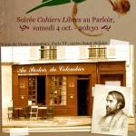Les Cahiers Libres auront un an, le 4 octobre prochain !