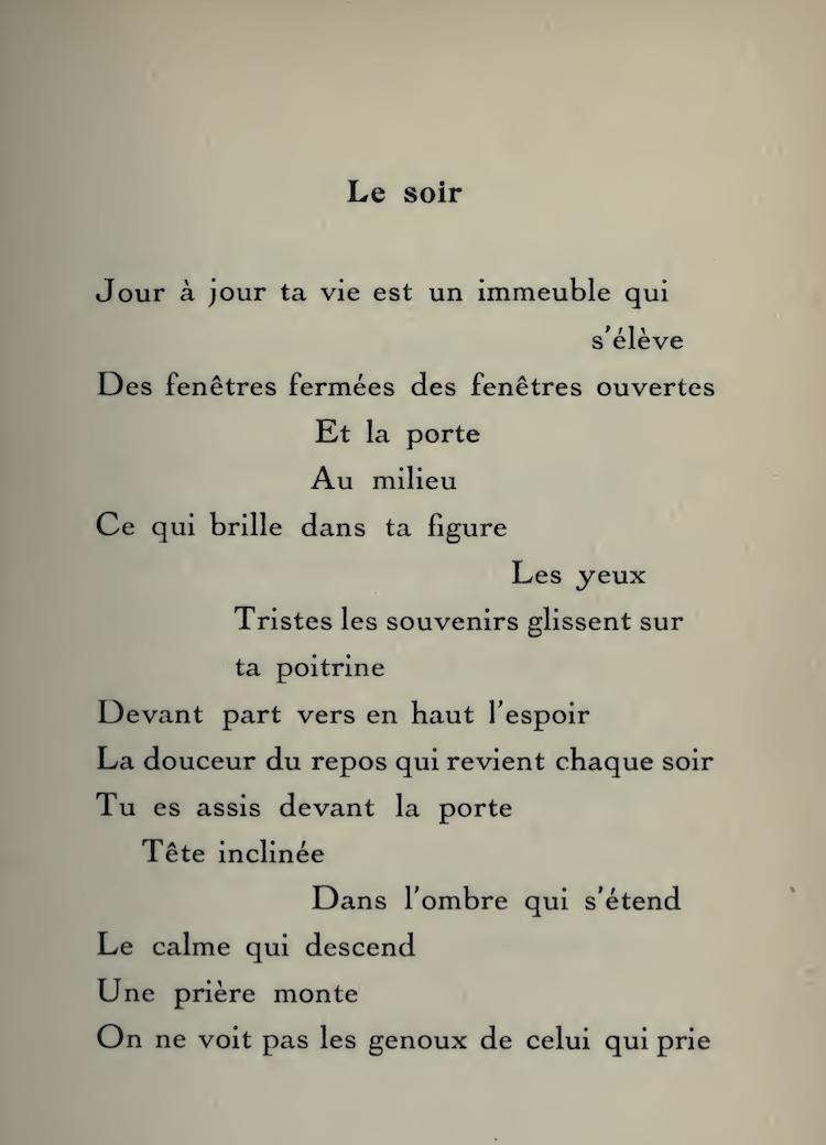 Le Soir Pierre Reverdy Cahiers Libres