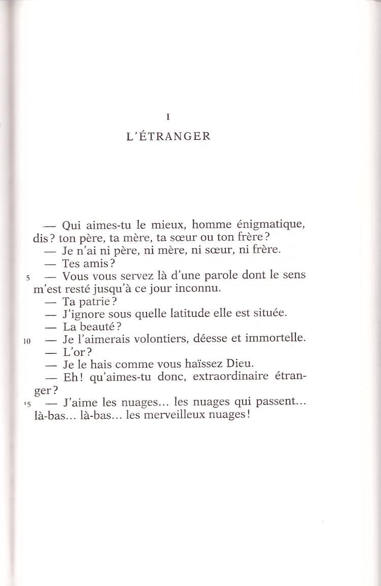 Baudelaire - l etranger
