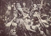 """H. de Groux, """"Christ aux outrages"""", 1889."""