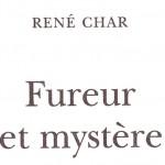 Sur la nappe d'un étang glacé, René Char.