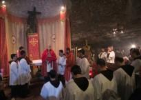 Les Chrétiens de Terre Sainte fêtent la découverte par Sainte Hélène de la Croix du Christ, au lieu de l'actuel Saint Sépulcre. © MAB