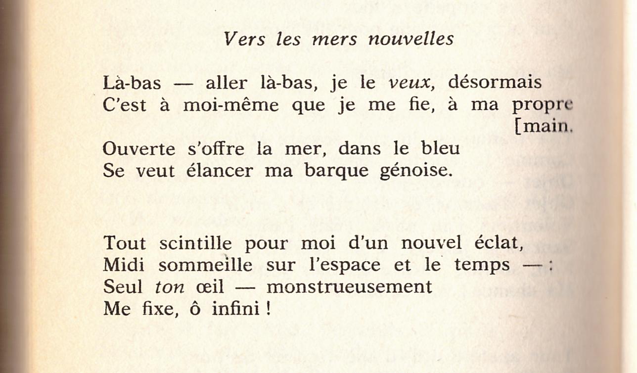 Vers Les Mers Nouvelles F Nietzsche Cahiers Libres