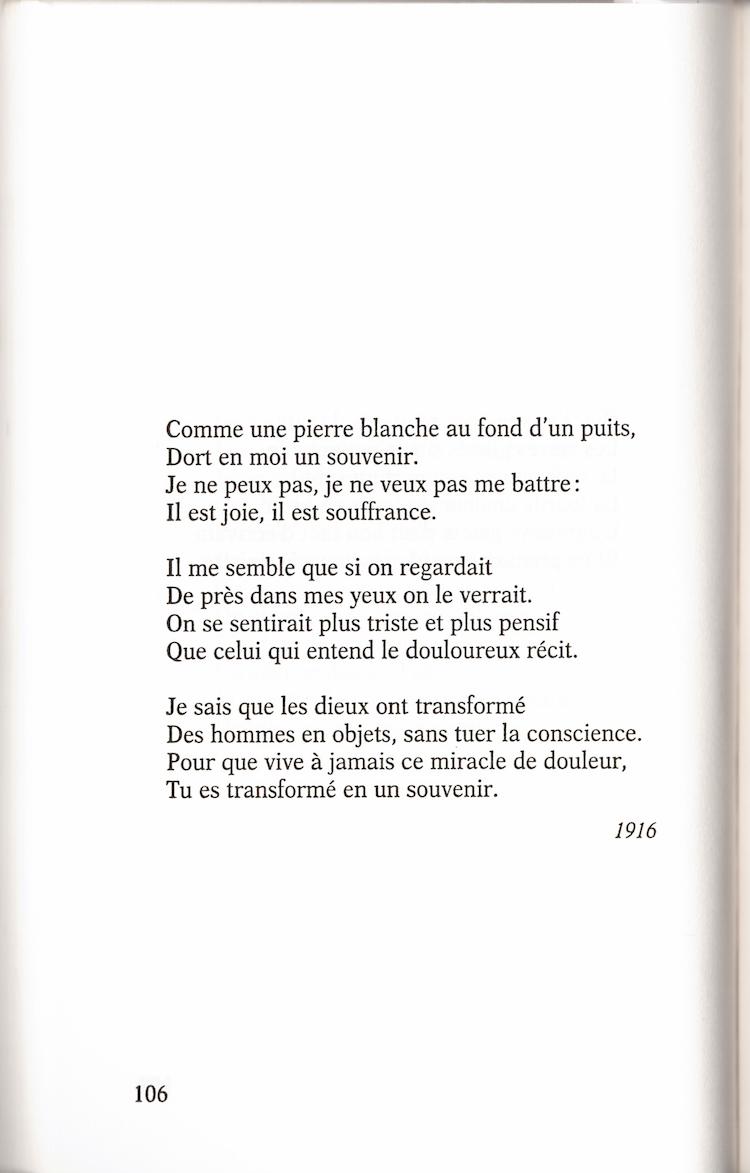 Dort En Moi Un Souvenir Anna Akhmatova Cahiers Libres