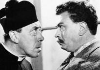 L'Eglise et l'Etat, le clerc et l'élu, Don Camillo et Peppone (in La grande bagarre de Don Camillo) (c) Wikimédia