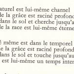 Car le surnaturel est lui-même charnel, Charles Péguy.